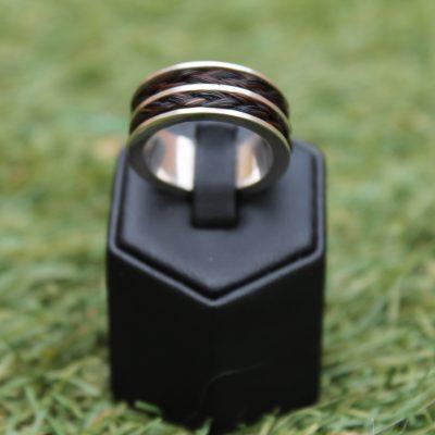 Aviiso sieraden met paardenhaar sterling zilveren ring