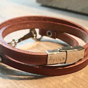 Wikkel armband met bit