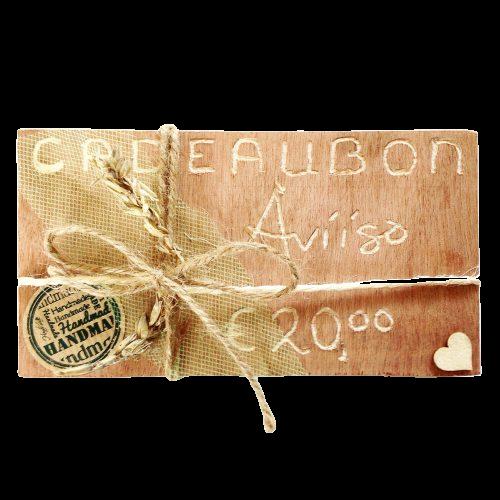 Originele cadeaubon Aviiso sieraden met paardenhaar