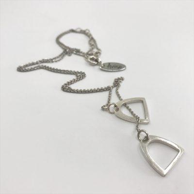 Aviiso Sterling zilveren collier met stijgebeugels2