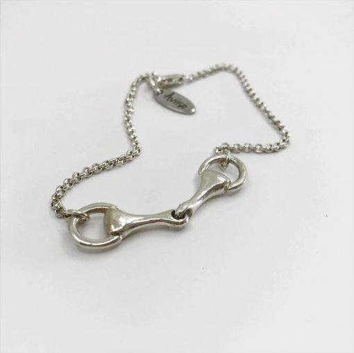 Sterling zilveren armband met bit