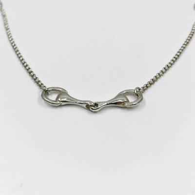 Sterling zilveren collier met bit